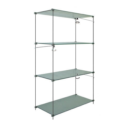 Glass Shelf Unit, 30x100 With Lights