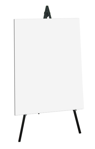 Greco Easel Metal, black, 160cm - With Panel