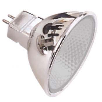 Halogen Lamp chrome, frosted, 20 Watt