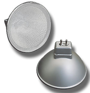 Halogen Lamp matt silver, frosted, 20 Watt