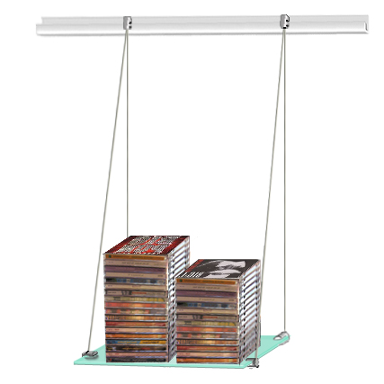 (J-rail) Hanging glass shelf 30 x 100 (x1)
