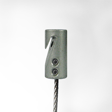 "J-rail Stair Anchor + Steel, 1.5mm cable 1m (3ft 3"")"