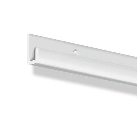 "J-Rail, aluminium heavy duty white 2m (6ft 6"")"