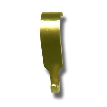 Moulding Hook Small Heavy Duty for Loop only *Brass Finish