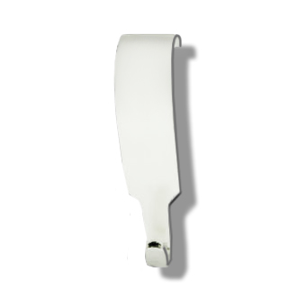 Moulding Hook Small Heavy Duty for Loop only <b>*White Finish