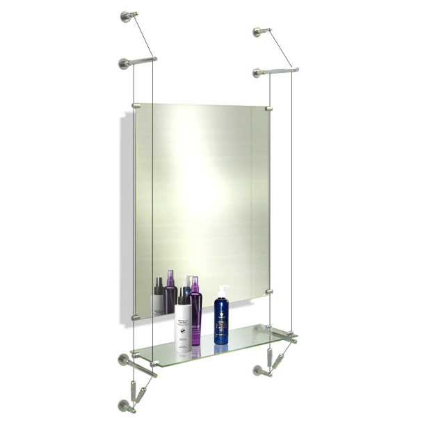 Salon Mirror & Shelf Cable system