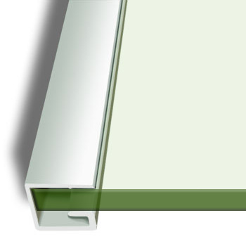 Floating Glass Bracket 6mm Glass Shelf, 30cm