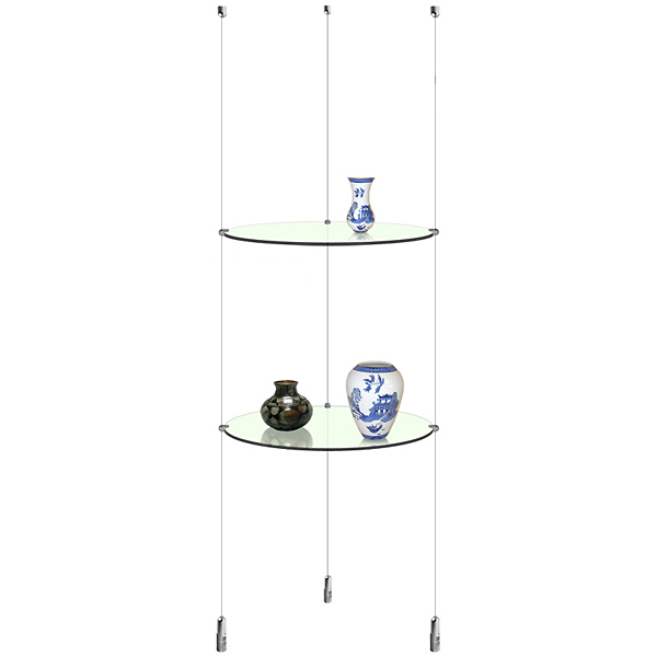 Suspended Round Glass Shelf