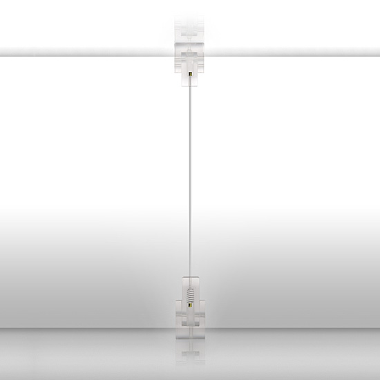 Transparent Ceiling to Floor Fittings, 4m Perlon Cord