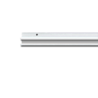"U-Rail, white 3m (9ft 10"")"