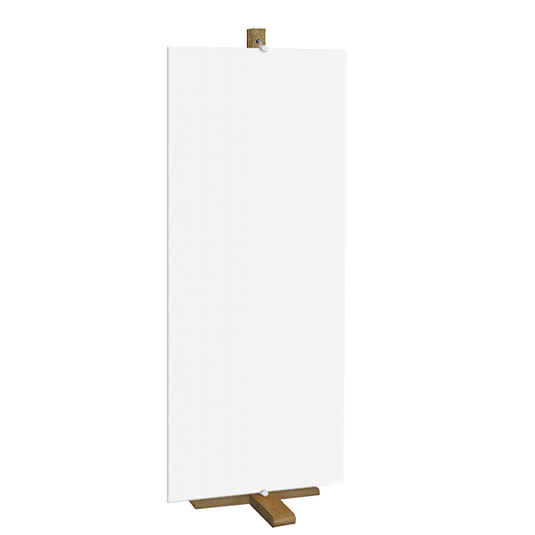"""Foamex Screen"" Hanging Easel, Wood"